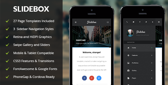 Slidebox | Mobile & Tablet Responsive Template