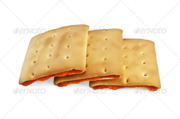 Crackers filled with whole - Stock Photo - Images
