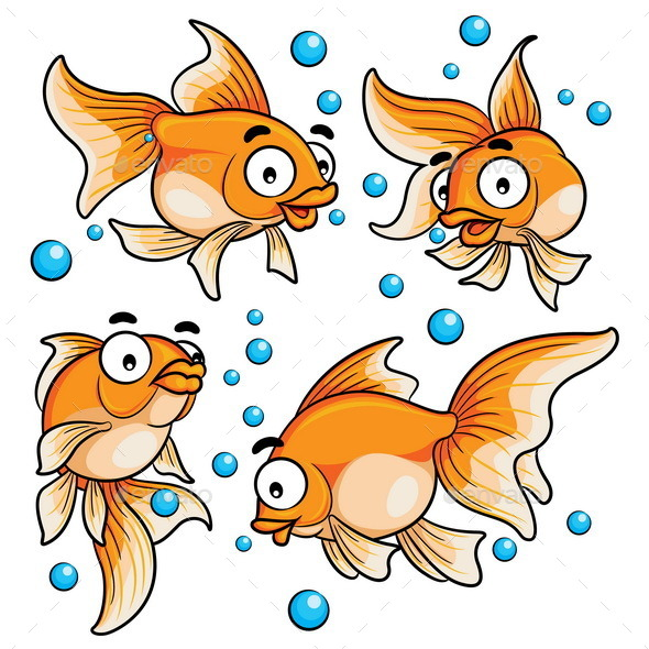 Goldfish Cartoon - Animals Characters