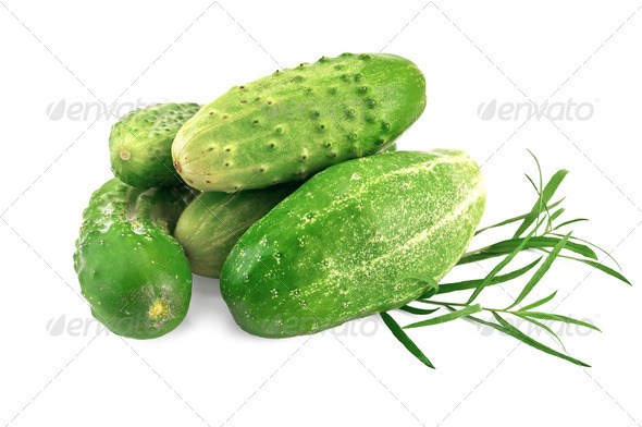 Cucumber with tarragon - Stock Photo - Images