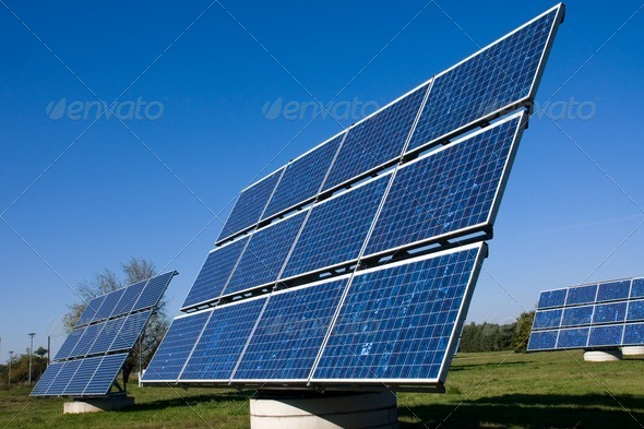 Various solar energy panels - Stock Photo - Images