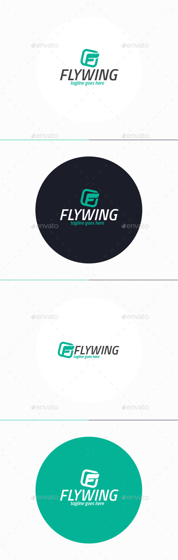 Fly Wing Logo • Letter F - Letters Logo Templates