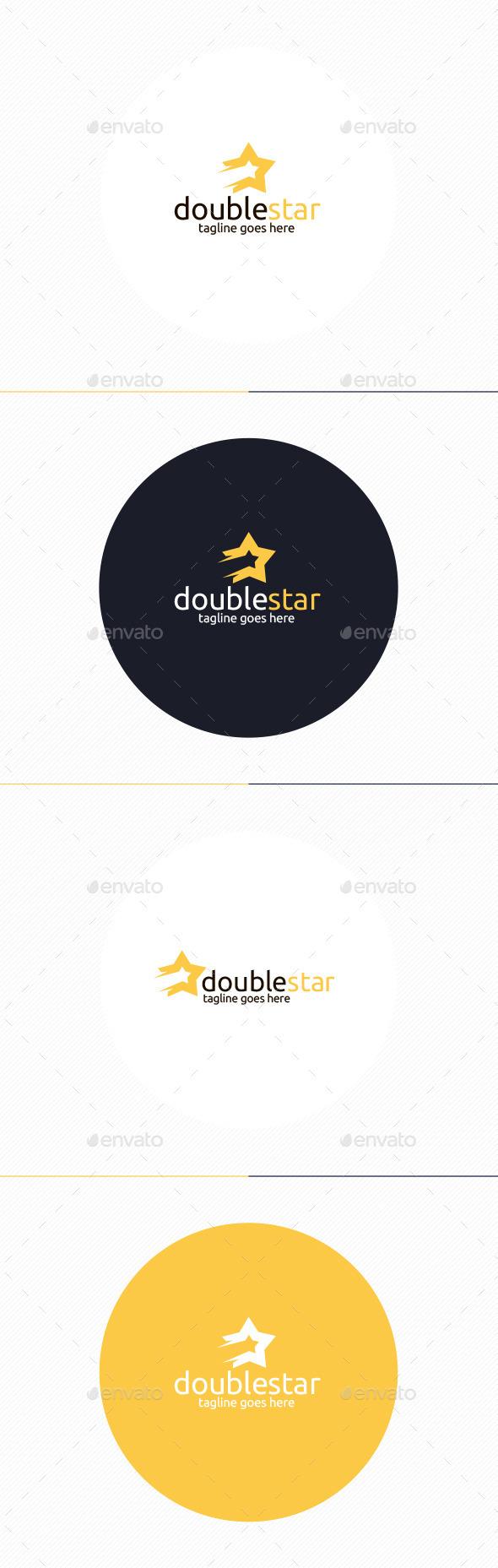 Double Star Logo - Vector Abstract