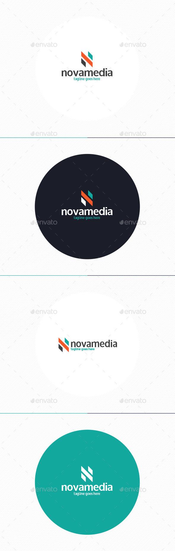 Nova Media Logo • Letter N - Letters Logo Templates