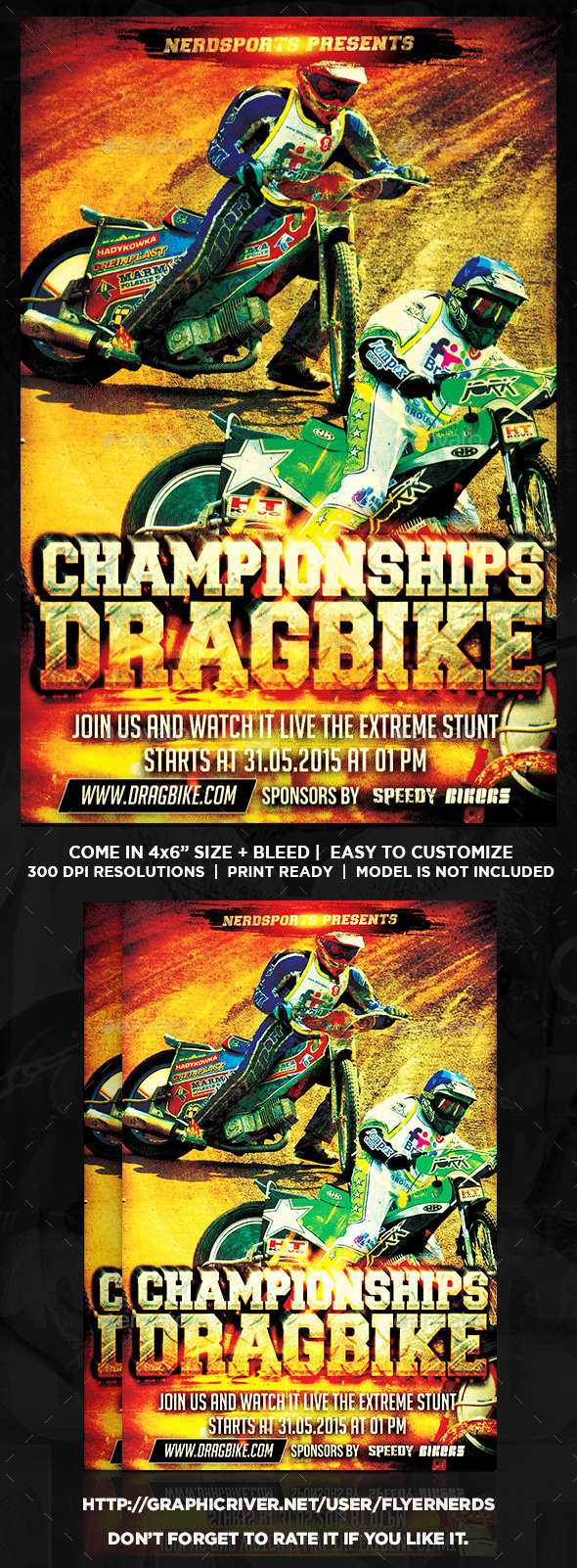 Drag Bike Championships Sports Flyer - Sports Events