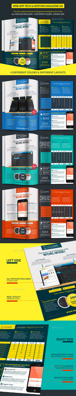 Web App Tech & Hosting Magazine Ad - Magazines Print Templates