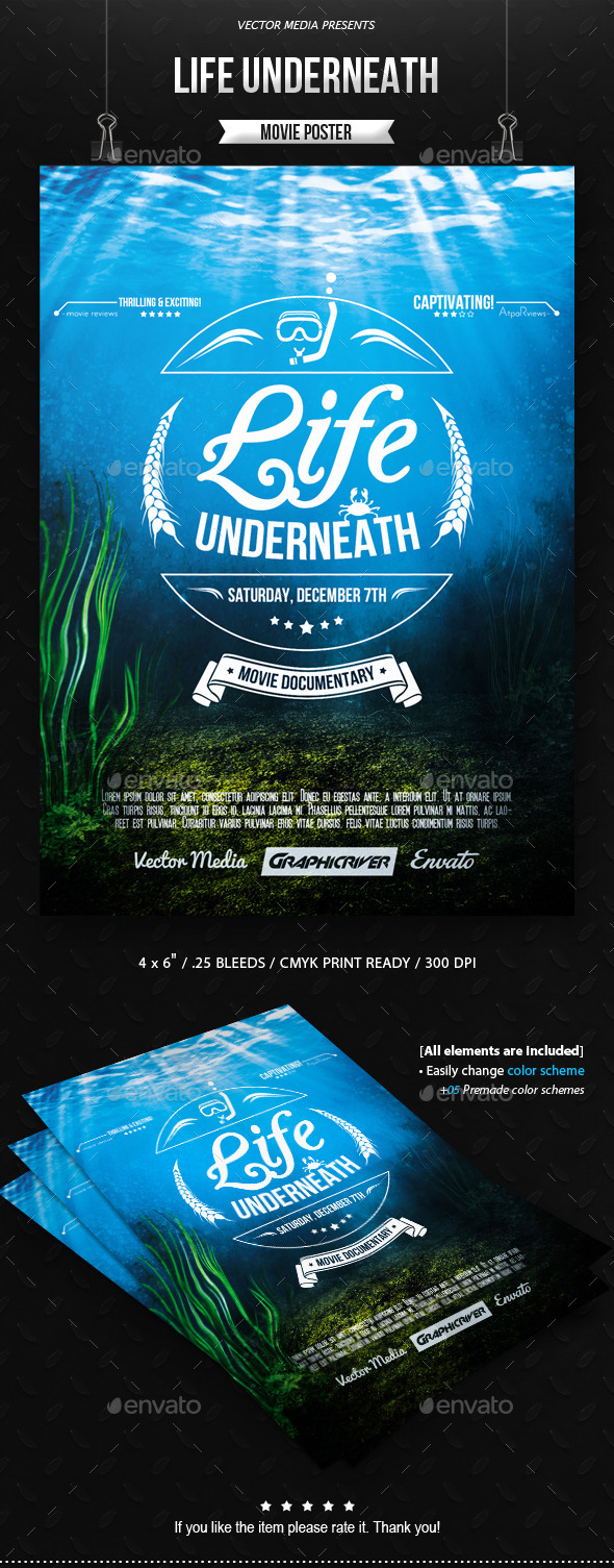 Life Underneath - Movie Poster - Miscellaneous Events