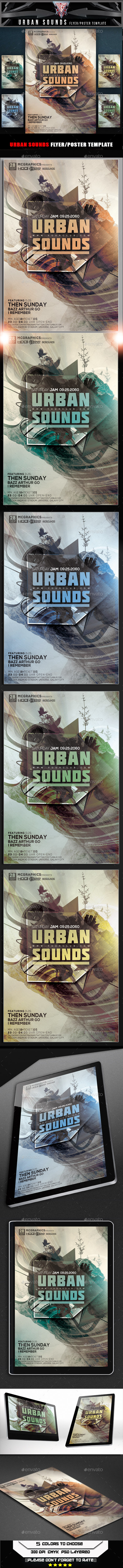 Urban Sounds Flyer Template - Flyers Print Templates