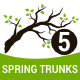 Spring Trunks Silhouette - GraphicRiver Item for Sale