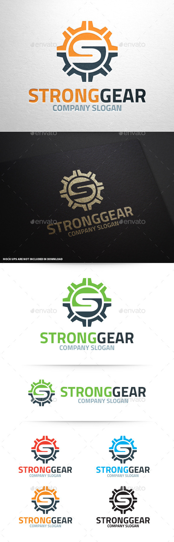 Strong Gear - Letter S Logo - Letters Logo Templates