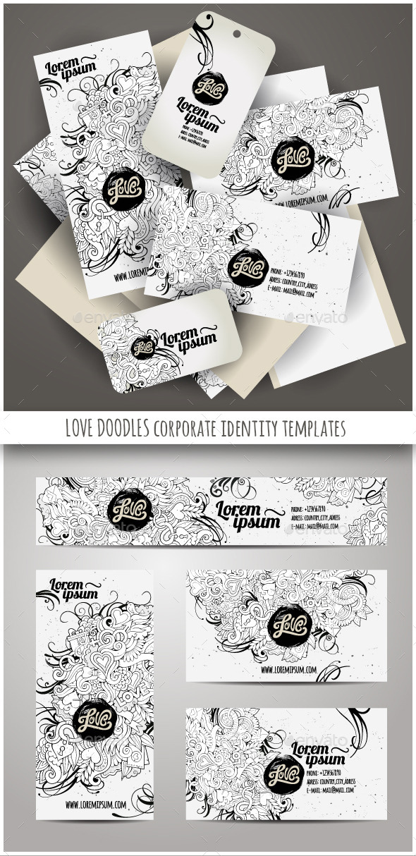 Love Doodles Corporate Identity Templates - Concepts Business