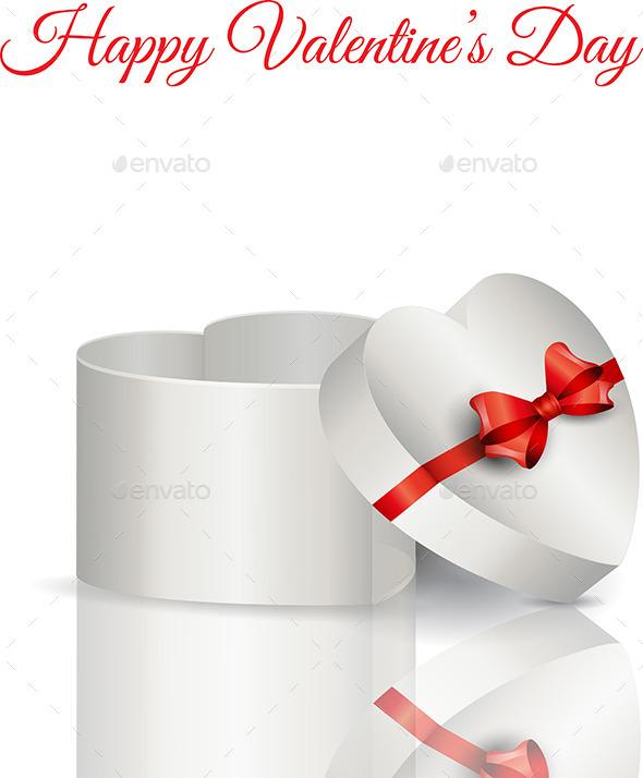 Heart Shaped Gift Box - Valentines Seasons/Holidays