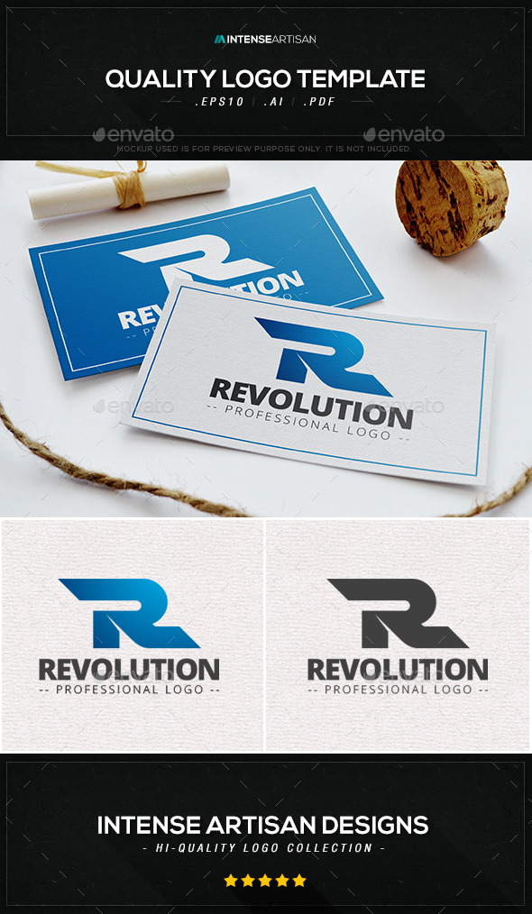 Revolution Logo Template - Letters Logo Templates