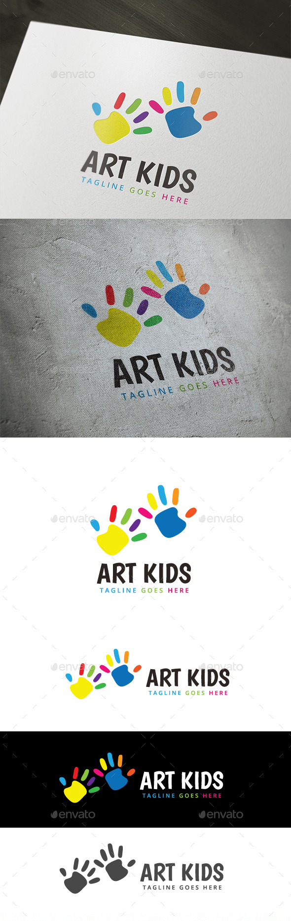 Art Kids - Humans Logo Templates
