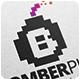 Bomber Pixel Logo Template