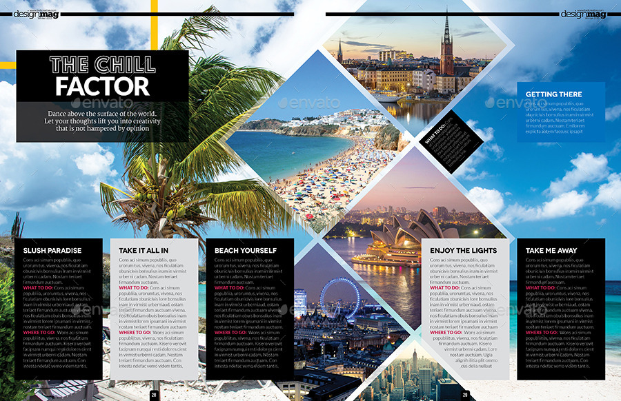 Magazine Template - InDesign 40 Page Layout V6 by BoxedCreative ...