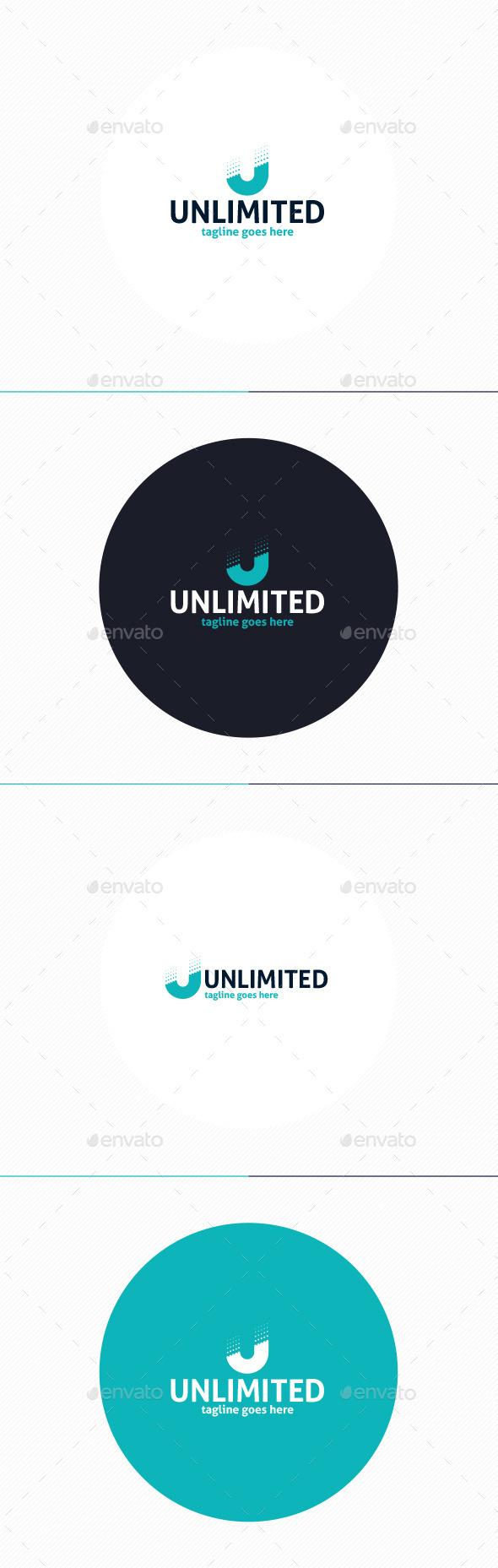 Unlimited Logo • Letter U - Letters Logo Templates