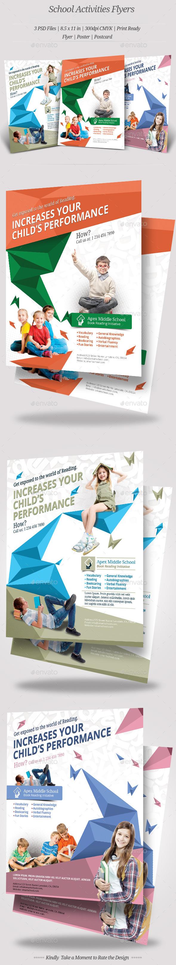 School Activities Flyer Templates - Flyers Print Templates