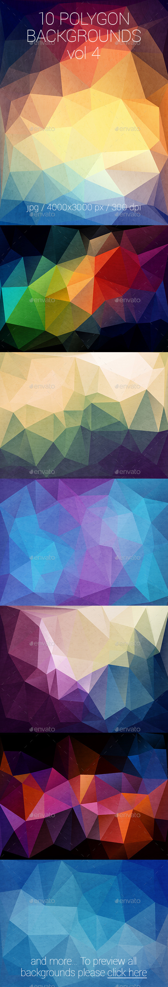 10 Polygon Backgrounds Vol. 4 - Abstract Backgrounds