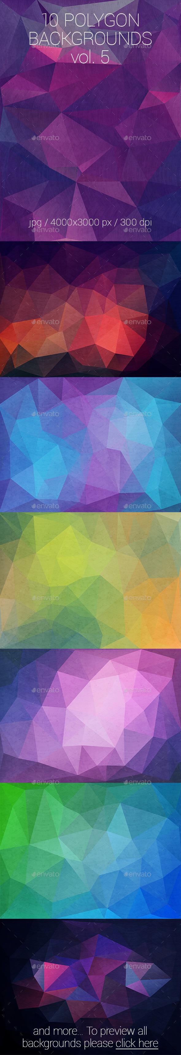10 Polygon Backgrounds Vol. 5 - Abstract Backgrounds