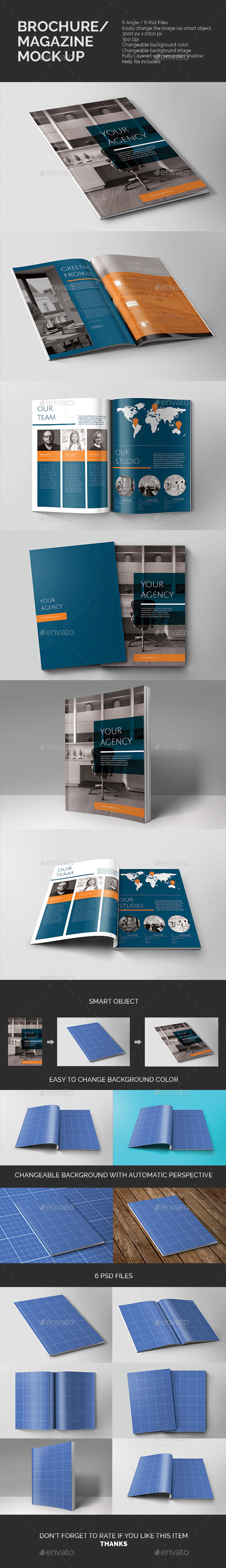 Brochure/Magazine Mock-up - Magazines Print