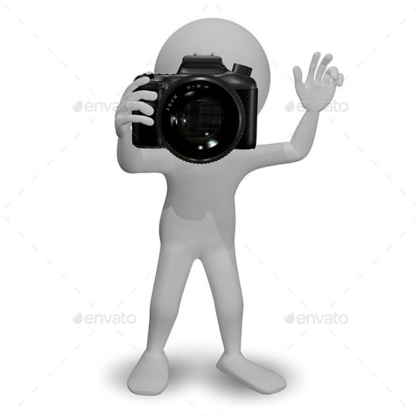 Man with Camera - People Illustrations