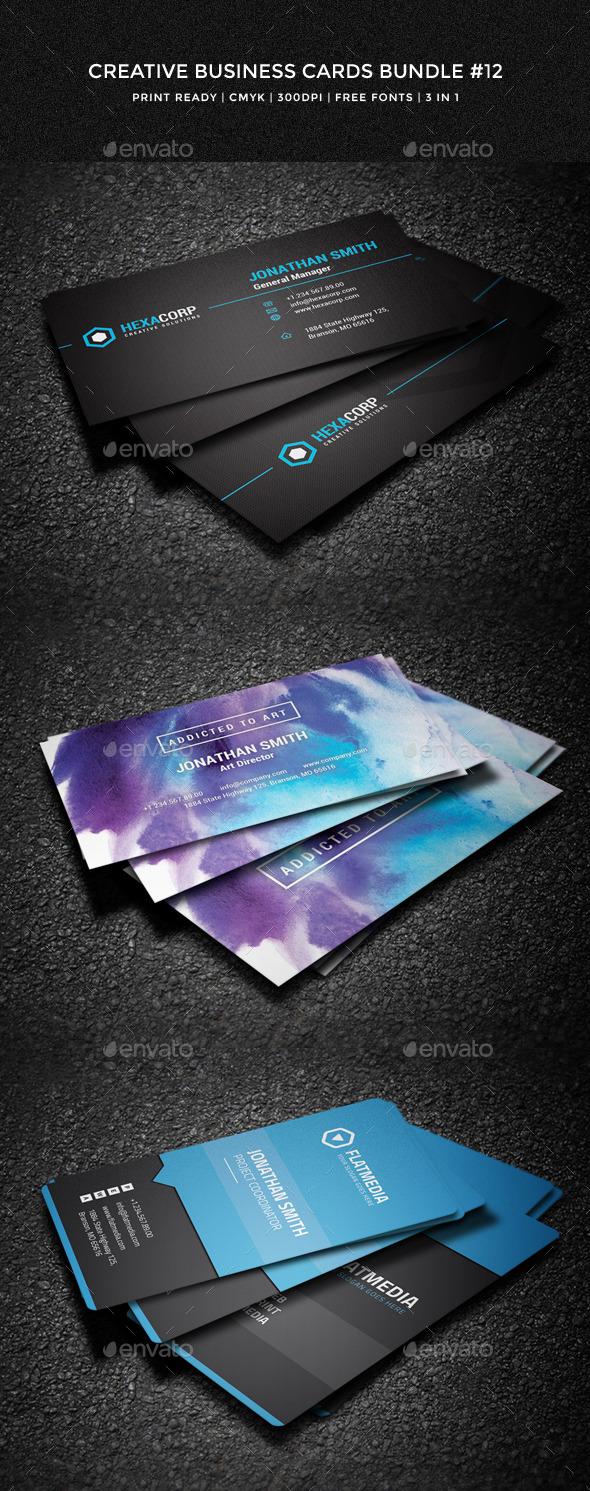 Creative Business Cards Bundle #12 - Creative Business Cards
