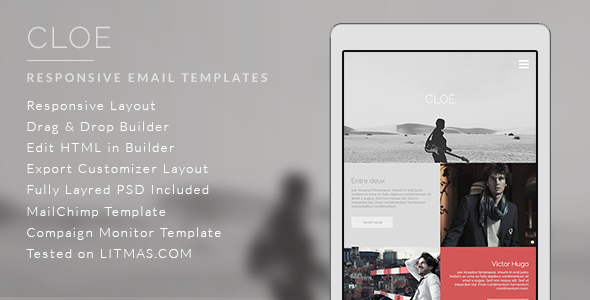 Cloe – Responsive Email Template + Builder Access