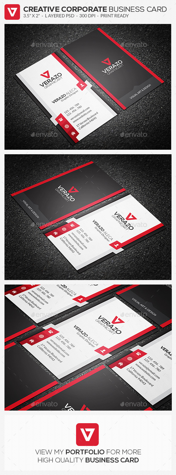 Creative Corporate Business Card 73 - Corporate Business Cards