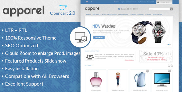 Apparel – Responsive OpenCart Template