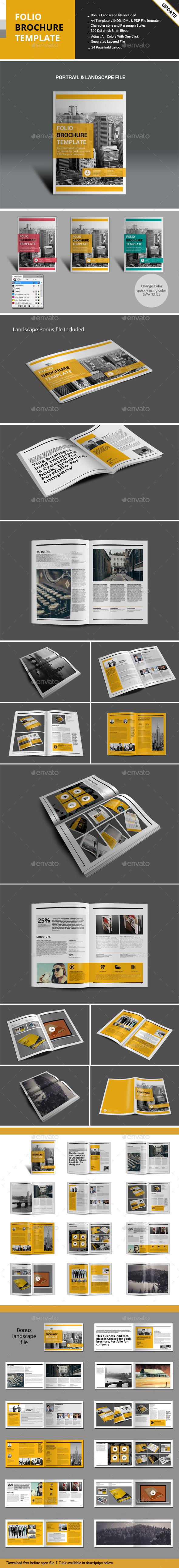 Folio Brochure Templates - Portfolio Brochures