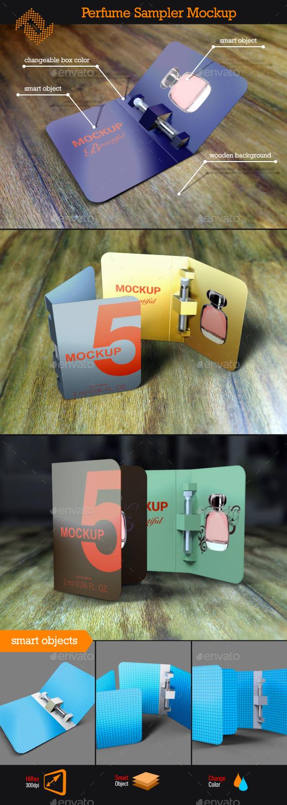 Perfume Sampler Mockup - Beauty Packaging