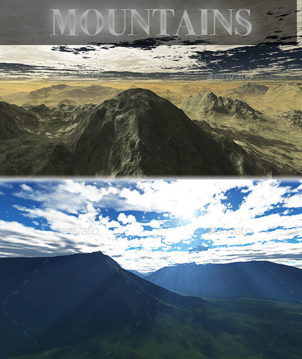 Mountains HD Skybox Pack - Backgrounds Game Assets