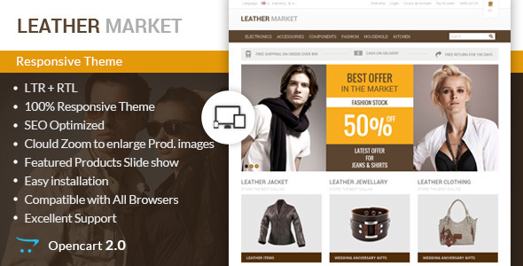 Leather Market – Opencart Responsive Theme