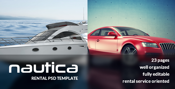 Nautica – Rental Services PSD Template
