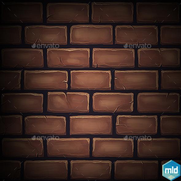 Brick Tile Texture 04 - 3DOcean Item for Sale