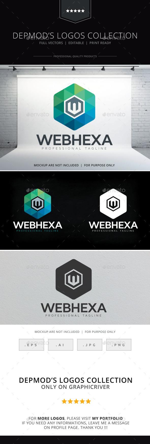 Web Hexa Logo - Letters Logo Templates