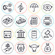 Finance Business Line Icons - GraphicRiver Item for Sale