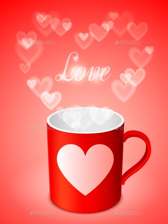 Cup with Hearts - Valentines Seasons/Holidays