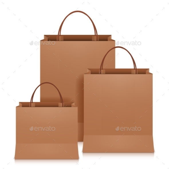 Brown Shopping Bags - Retail Commercial / Shopping