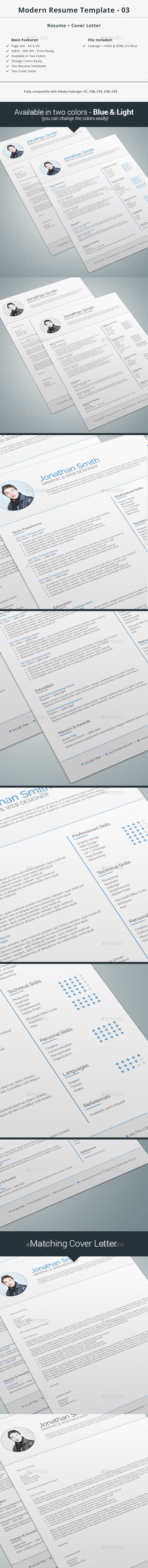 Modern Resume Template - 03 - Resumes Stationery