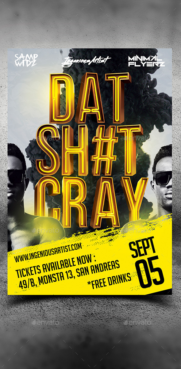 That Thing Cray Party Flyer - Clubs & Parties Events