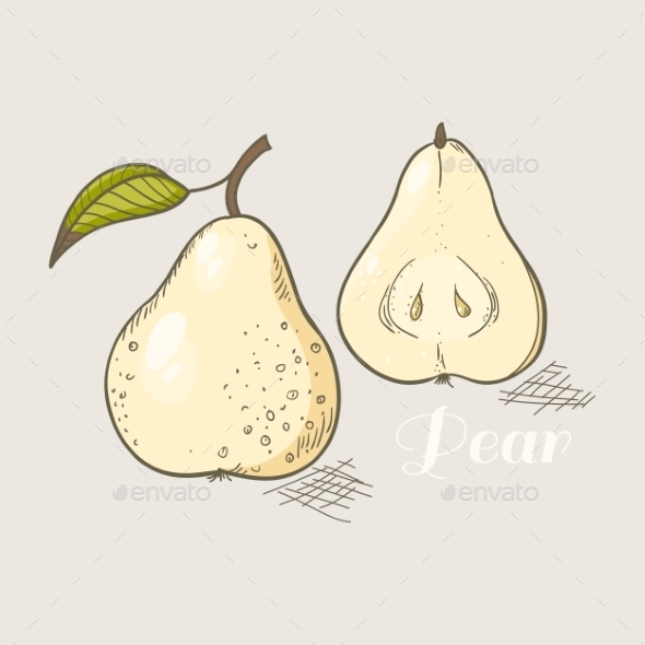 Yellow Pear - Food Objects