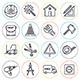 Construction Building Line Icons  - GraphicRiver Item for Sale