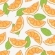 Orange Slice Seamless Pattern - GraphicRiver Item for Sale