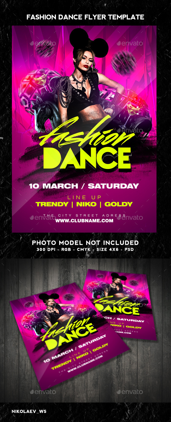 Fashion Dance Flyer - Clubs & Parties Events