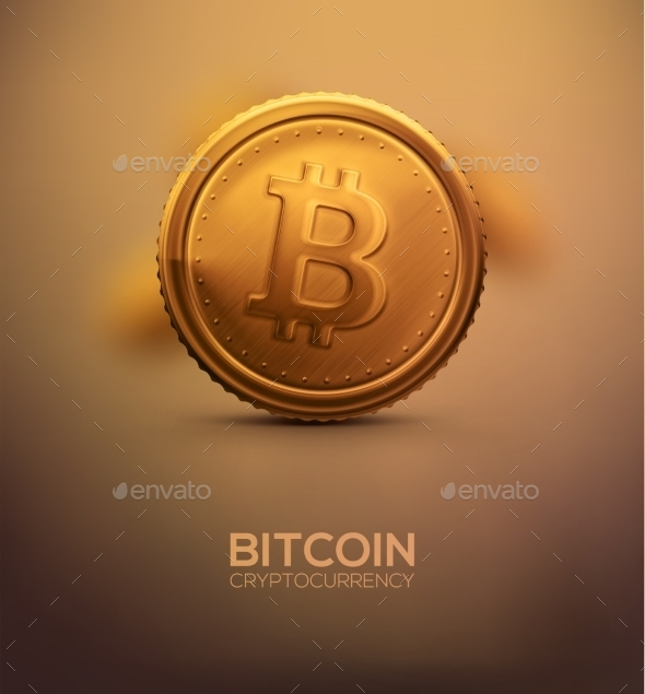 Gold Bitcoin - Commercial / Shopping Conceptual