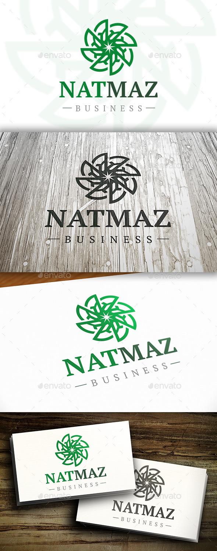 Nature Maze Logo - Vector Abstract