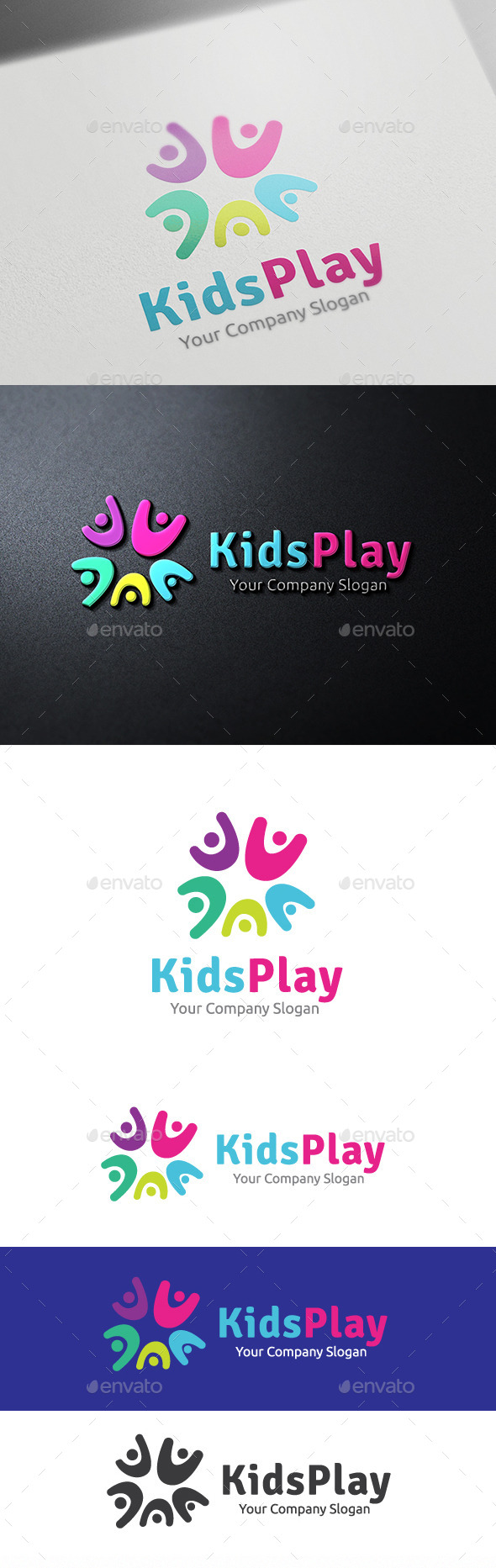 Kids Play - Humans Logo Templates