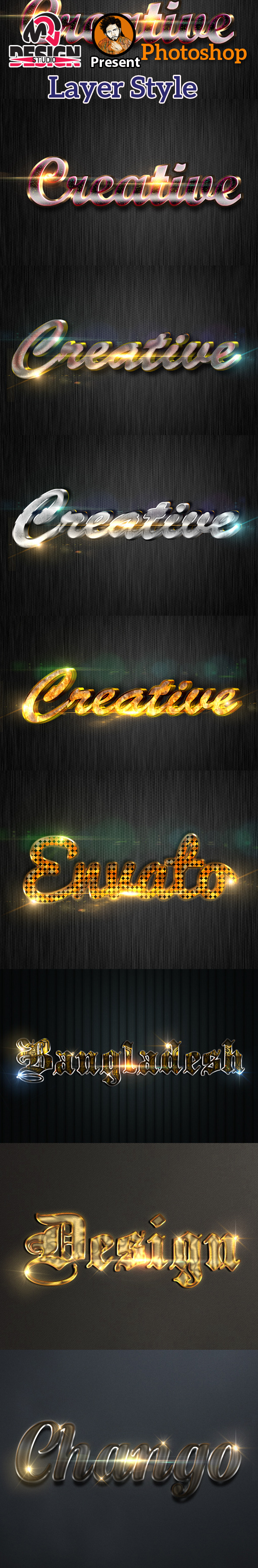 3D Collection Text Effects - Styles Photoshop
